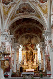 St.Nicolaus church in Meran,Italy stock image