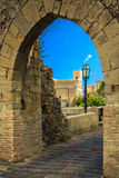 St.Nicolo church through the old arch Royalty Free Stock Image