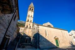 St. Nikola church in Perast city Royalty Free Stock Photo