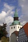 St.-Nikolai-Church in Bad Essen, Germany. Tower of the St. Nikolai-Church in Bad Essen, Osnabruecker land, Lower Saxony, Germany stock photos