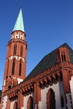 St Nikolai Church of Frankfurt. St Nikolaikirche on Romersberg Frankfurt Stock Image