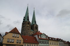The St.Nikolai church. In Quedlinburg Stock Images