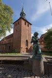 St Nikolai Church Svendborg fotografie stock libere da diritti
