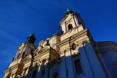 St. Nikolas Church,Old Buildings, Prague, Czech Republic Stock Image