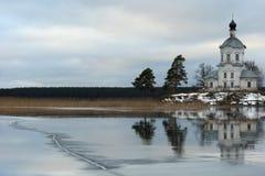 St Nilus Monastery nel lago Seliger Immagini Stock Libere da Diritti