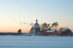 St Nilus Monastery no lago Seliger fotos de stock royalty free