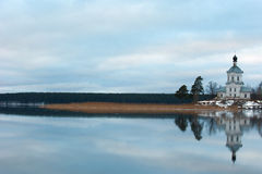 St. Nilus Monastery at Seliger lake. Stock Photography