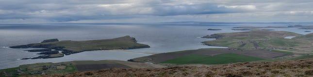 St Ninian ` s小岛舍德兰群岛 免版税库存图片