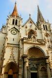 St Nizier教会在利昂法国 免版税库存照片