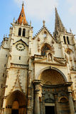 St Nizier church in Lyon France. Facade of St Nizier church in Lyon, France Royalty Free Stock Photos