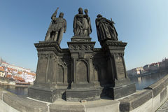 St. Norbert, Wenceslas and Sigismund Royalty Free Stock Photo