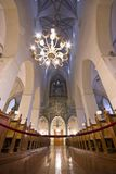 St. Olaf church interior in Tallin, Estonia. TALLINN, ESTONIA - SEPTEMBER 20: St. Olaf Church interior on September 20, 2012. with a historic height of 159 Royalty Free Stock Image
