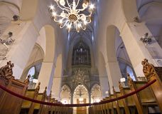 St. Olaf church interior in Tallin, Estonia Stock Photo