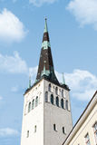 St Olaf Church. Outside view of St. Olaf Church, on blue cloudy sky background Royalty Free Stock Image