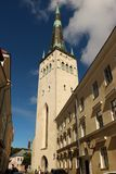St. Olaf Church, Tallinn. St. Olaf`s Church in the Old town of Tallinn, the capital of Estonia. The church is believed to have been built in the 12th century and Royalty Free Stock Image