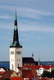 St Olaf della chiesa a Tallinn Fotografia Stock