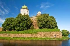 St Olaf kasteel in Vyborg Stock Foto's