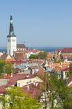 St. Olaf kerk Tallinn Stock Foto's