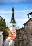 St Olaf (Oleviste) Church. Tallinn, Royalty Free Stock Images