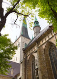 St Olaf (Oleviste) Church. Tallinn, Estonia Stock Photos