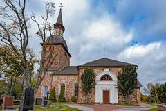 St Olaf& x27; s教会, Jomala,奥兰群岛,芬兰 库存图片