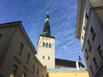 St Olaf`s church. In the Old Town of Tallinn Stock Images