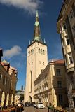 St. Olaf Church, Tallinn. St. Olaf`s Church in the Old town of Tallinn, the capital of Estonia. The church is believed to have been built in the 12th century and Stock Image