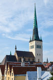 St. Olaf's church in Tallinn, Estonia Stock Images