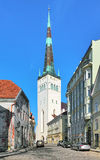 St. Olaf's Church in the Tallinn Old Town, Estonia Royalty Free Stock Images