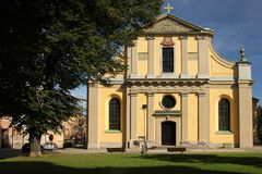 St Olai或奥洛夫教会。诺尔雪平。瑞典 免版税库存照片