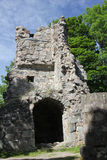 St Olof church ruin in Sigtuna, Sweden Stock Photography