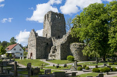 St Olof church ruin Sigtuna Royalty Free Stock Photos