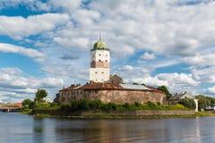 St. Olov castle, old medieval Swedish in Vyborg Stock Image
