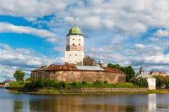 St Olov kasteel, oud middeleeuws Zweeds in Vyborg stock fotografie