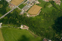 St. Omobono church from above, Italy Stock Images