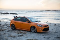 St orange de Ford Focus image libre de droits