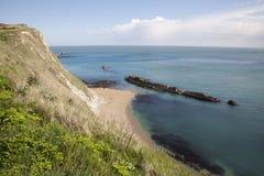 St Oswalds baai dichtbij Durdle-Deur, Dorset Stock Foto