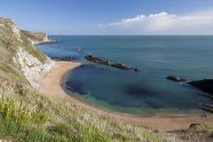 St Oswalds baai dichtbij Durdle-Deur, Dorset Royalty-vrije Stock Foto