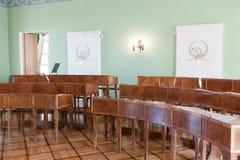 St PÉTERSBOURG, RUSSIA-APREL 24 2016 : Une classe éducative de salle de conférence à Pushkin photo libre de droits