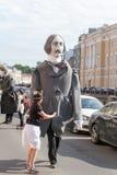 St PÉTERSBOURG, RUSSIE 4 JUILLET : dépassement des chiffres de la grande Russie Image stock