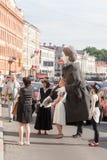St PÉTERSBOURG, RUSSIE 4 JUILLET : dépassement des chiffres de la grande Russie Photos stock