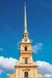 St PÉTERSBOURG, RUSSIE - 26 JUILLET 2015 : Flèche de Peter et de Paul Images libres de droits