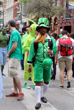 St. Paddy. Green was all over 6th street on St. Patrick's day during the SXSW music festival Royalty Free Stock Photography