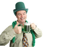 St Paddy's Day Drunk with Copyspace Royalty Free Stock Photos