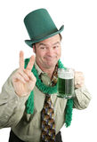 St Paddy's Day Drunk - Peace Sign Stock Images