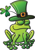 St Paddys Day Frog Stock Photo