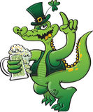 St Paddys Day Green Crocodile Stock Images