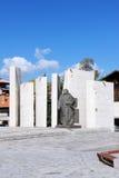 St Paisius av den Hilendar monumentet i Bansko Fotografering för Bildbyråer