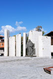 St Paisius of Hilendar Monument in Bansko. St Paisius of Hilendar Monument in the centre of Bansko. Bansko is a town in southwestern Bulgaria, located at the Stock Image