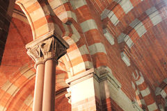 At St. Pancras. Beautiful architecture at St. Pancras Station in London Stock Photo
